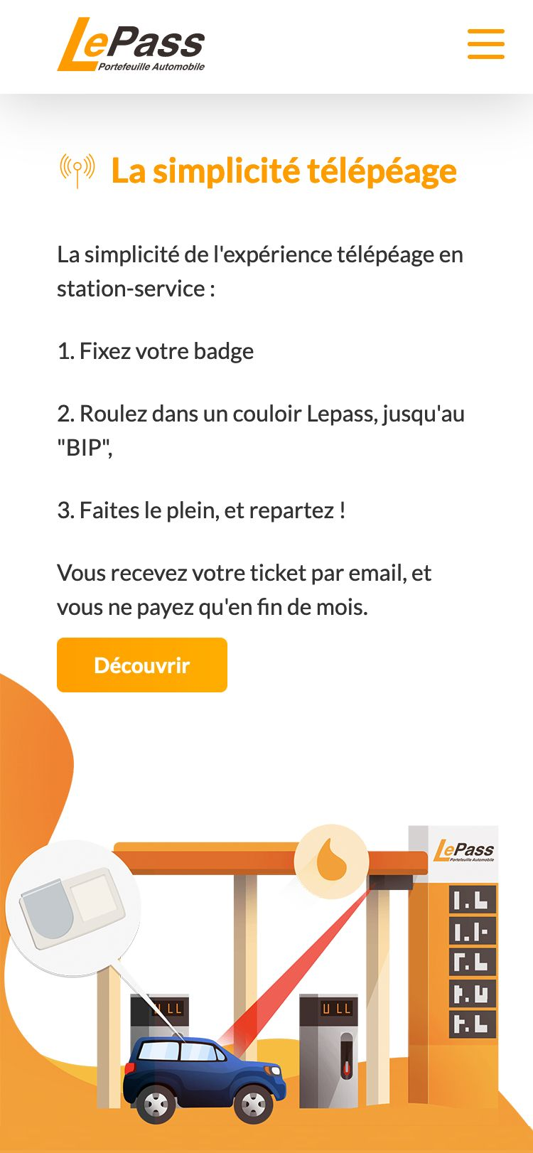 Mobile image of Le dashboard LePass