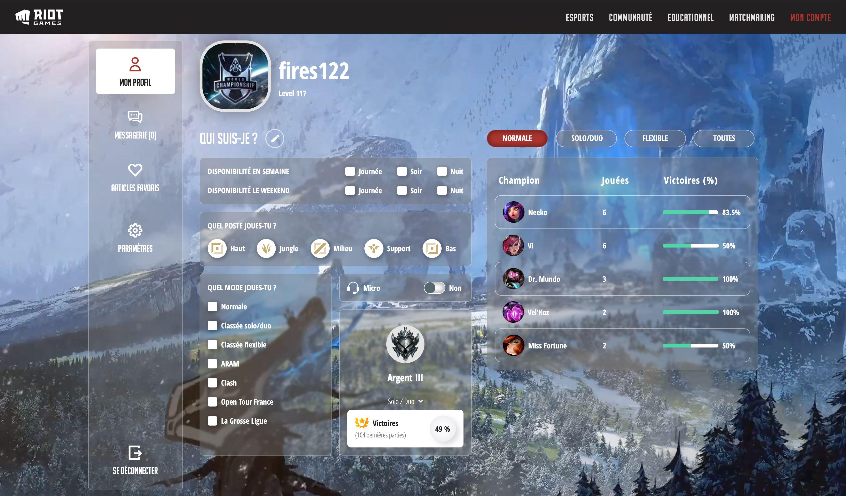 Desktop image of Le matchmaking