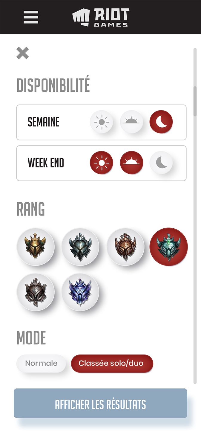 Mobile image of Le matchmaking